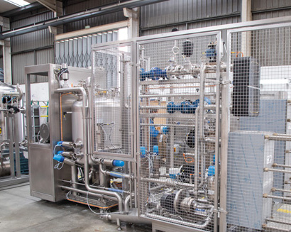 Production line for different dairy products
