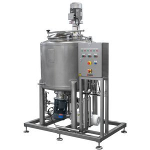 System for the production of hydroalcoholic gel